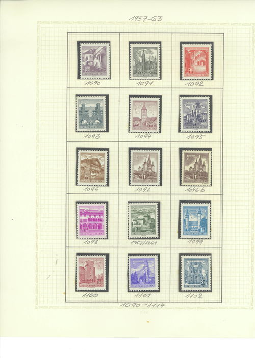 Austria 1957-1982 - collection between ANK 1090 and 1758
