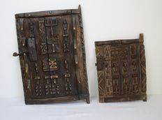 Two African granary doors - DOGON – Mali