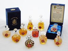 Jewels of Scotland - Set of 10 Hand blown Miniatures  - Springbank 1965 - 25 years old