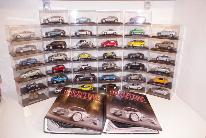 Altay-Norev - Scale 1/43 - Lot with 40 models: Collection of 37 concepts cars & 3 concept cars in Special Edition