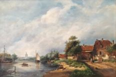 Unknown (20th century) - Village view