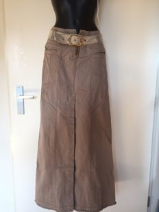 Just Cavalli - Long jeans skirt inclusief Linen belt with goldcoloured Cavalli buckle - Never worn