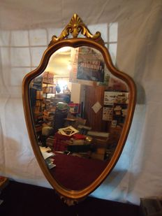 Antique mirror with gold leaf frame, 20th century
