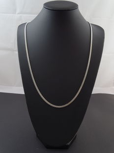 Silver curb link necklace, 925 kt