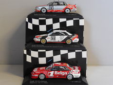 Minichamps - Scale 1/43 - Lot with 3 x Audi V8 (1990, 1992 & 1993)