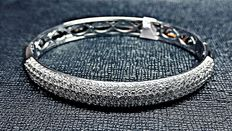 4.41 ct G H / VS SI  Round cut diamonds bracelet made of white gold - size 60 mm / 65 mm