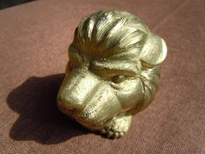 Bookend in bronze/brass Lion - Art Foundry - lost wax - hand-sculpted - P.G Guises - OO1 - France, 1999