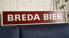 Plastic advertising light box - Breda Beer & Royal Crown Cola - double sided.