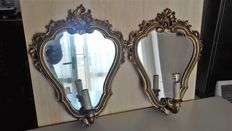 A pair of wall mirrors - Italy, circa 19th century