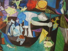 Pablo Picasso (after) -Night Fishing at Antibes