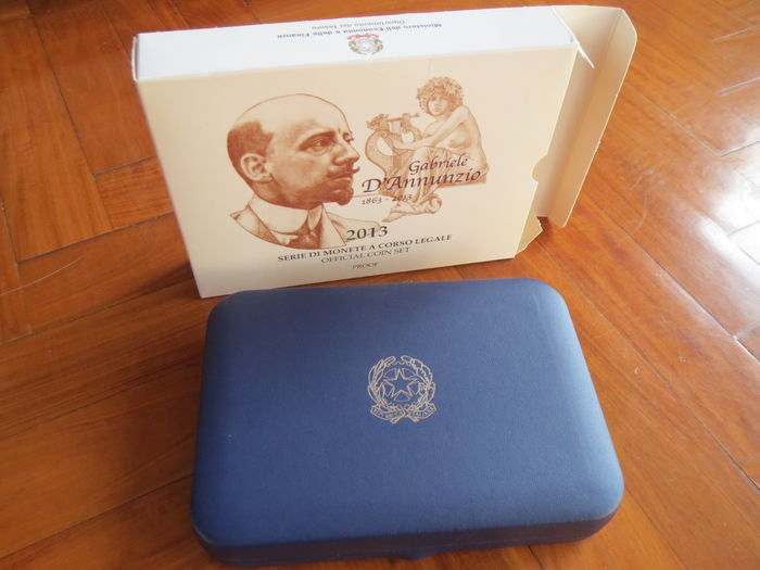 Italy – 2013 Proof divisional coin series: 'Gabriele D'Annunzio' (includes silver).