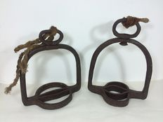 Stirrups in wrought iron for cavalry - Second half 19th century - Spain