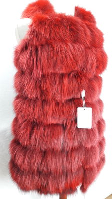 Fox fur vest, handmade in Italy