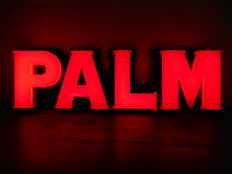 Illuminated advertising for Palm from 1990