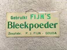Original rare advertising sign for soap factory P. J. Fijn from Gouda - Ca. 1920
