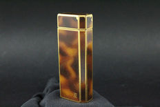 Cartier lighter 5 faces - in brown lacquer with Pelikan resin fountain pen for free