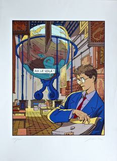 Schuiten, François - Sérigraphie Archives Internationales - La frontière invisible - (2002)