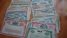 USA-collection of 96 different US stocks, very decorative