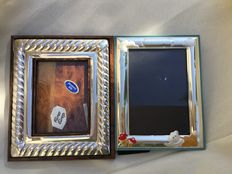 Two Photo Frames in Silver 925/1000.