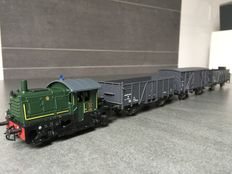 Roco H0 - 43676 - Diesel locomotive NS Class 200 with three green NS-203 wagons