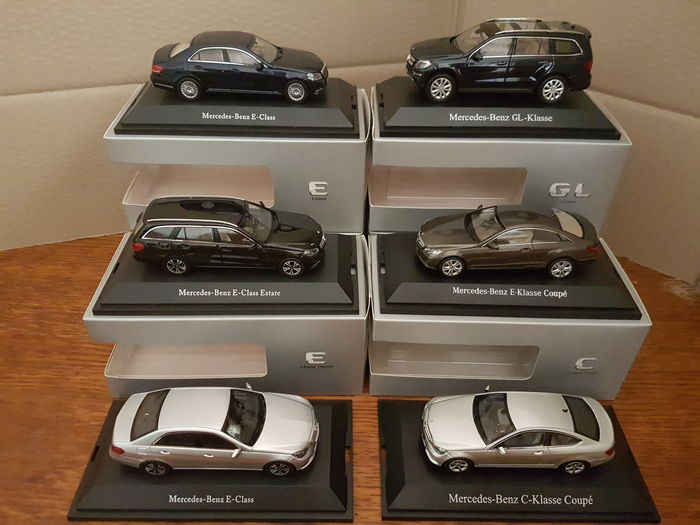 Norev / Kyosho / Schuco - Scale 1/43 - Lot with 6 models: 6 x Mercedes-Benz