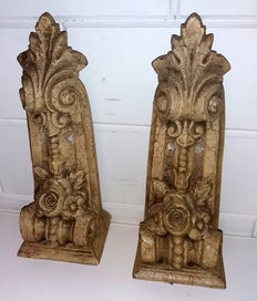 Two stone ornaments - probably from the early 1900s