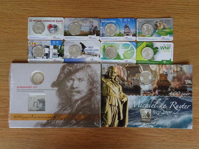 The Netherlands – 5 Euro in coin card (10 pieces)