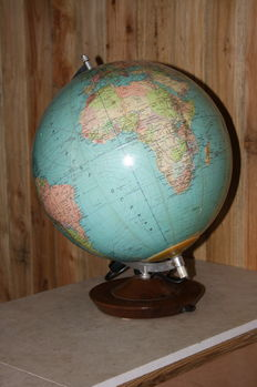 Beautiful Globe on a wooden base, with lighting