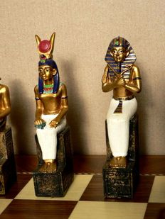 Egyptian high-quality collectible chess .