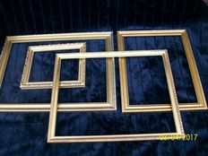 4 Beautiful gilded picture frames