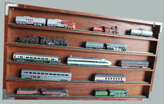 """Franklin Mint 1991 - locomotives """"Kings of the Rails"""" - with display case"""