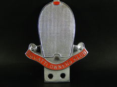Original Vintage Chrome and Enamel Bugatti Owners Club Badge