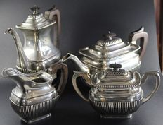 Silver Coffee and Tea Set, 4 pieces, Portugal