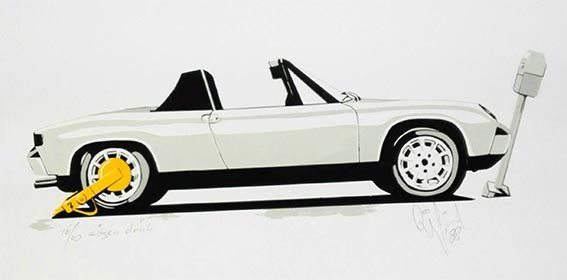 914 with the Yellow Earring Limited silkscreen by Karel Lijbrink from 1988