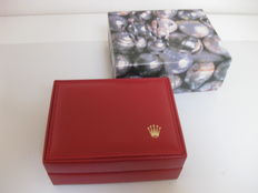 Rolex box in soft, red leather. New (ref. 14.00.02)