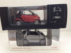 Kyosho - Scale 1/18 - Smart Brabus fortwo Cabrio and Smart fortwo Cabrio