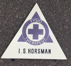Physical therapist Horsman - advertising sign 1960s
