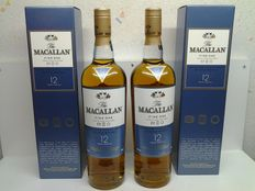 2 bottles - The Macallan 12 years Fine Oak.