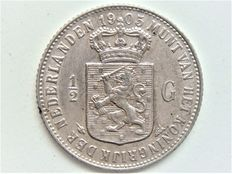 The Netherlands – ½ guilder 1905 Wilhelmina – silver