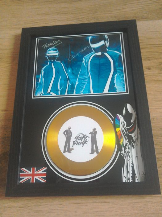 Daft Punk Framed Cd Display.