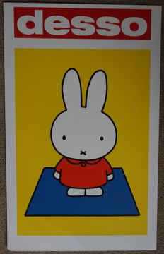 Dick Bruna Desso - rare XL advertising sign with Miffy - 1999