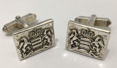 Early 20th Century Erb Logo Sterling Silver Men's Cufflinks