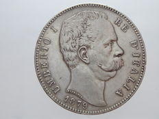 Kingdom of Italy, 1879 – 5 Lire, Umberto I – Silver
