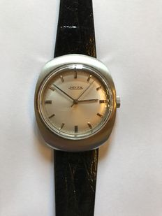 Jaeger Men's Watch in All Steel - Water Resistance - From between 1967 and 1972 - Distributed by Jaeger LeCoultre.