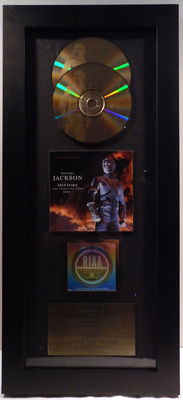 Michael Jackson - History: past , present and future BOOK I - US RIAA Gold Music Award goldene Schallplatte - original Sales Music Record Award ( Golden Record )
