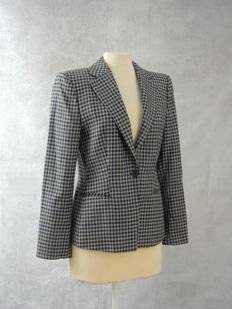 Emporio Armani - Fitted checked jacket