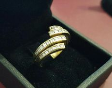 Ring in 18 kt gold with 0.50 ct diamonds – Size: 13/14 *** no reserve price ***