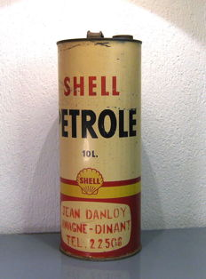 Shell tin Belgium c. 1950 - 45 cm high