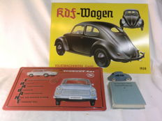 Volkswagen & Trabant Replica Garage schilden  - Dinky Toys Volkswagen no.181 - The observers' Book of Automobiles 1974