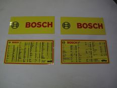 Set of 4 Bosch display signs Year ca. 1980